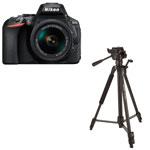 Nikon D5600 DSLR Camera with 18-55mm Lens & Tripod