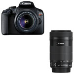 Canon EOS Rebel T7 DSLR Camera with 18-55mm/55-250mm IS Lenses