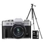 Fujifilm X-T20 Mirrorless Camera with 15-45mm Lens, Tripod/Monopod & Memory Card