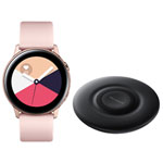 Samsung Galaxy Watch Active 40mm Smartwatch with Wireless Charging Pad - Rose Gold