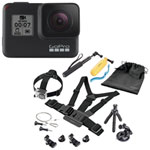 GoPro HERO7 Waterproof HD Sports & Helmet Camera with Insignia Accessory Kit - Black