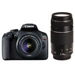Canon EOS Rebel T7 DSLR Camera with 18-55mm/75-300mm Lenses