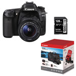 Canon EOS 80D DSLR Camera with 18-55mm IS STM Lens, 128GB Memory Card & Accessory Kit