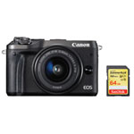 Canon EOS M6 Mirrorless Camera with 15-45mm Lens & SanDisk Extreme PLUS 64GB SDXC Memory Card