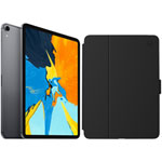 "Apple iPad Pro 11"" 512GB 4G LTE (1st Gen) with Folio Case & Screen Protector - Space Grey/Black"