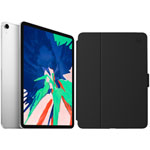 "Apple iPad Pro 11"" 512GB 4G LTE (1st Gen) with Folio Case & Screen Protector - Silver/Black"