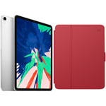 "Apple iPad Pro 11"" 1TB (1st Gen) with Folio Case & Screen Protector - Silver/Red"