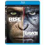 Rise of the Planet of the Apes /Dawn of the Planet of the Apes (Blu-ray)