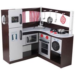 kidkraft modern espresso kitchen : play kitchens - best buy canada