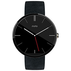 Motorola Moto 360 Smartwatch with Heart Rate Monitor - Black
