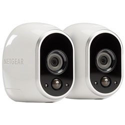 NETGEAR Arlo Wireless Indoor/Outdoor Security System with 2 720p Cameras - White