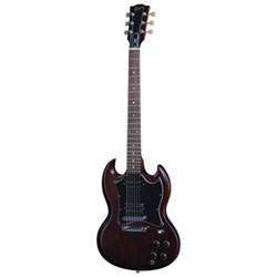 Guitare électrique traditionnelle SG Special Faded 2016 de Gibson USA - Brun usé