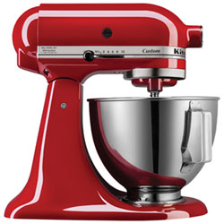 Batteur sur socle de la série Custom de KitchenAid - 4,5 pte - 325 W - Rouge empire