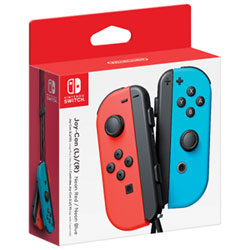 Nintendo Switch Left and Right Joy-Con Controllers - Neon Red/Neon Blue