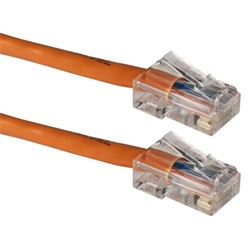 Ziotek CAT5e Enhanced Patch Cable Black W// Boot 7ft