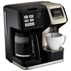8fbf008b90f Hamilton Beach FlexBrew 2-Way Coffee Maker - 12-Cup - Black