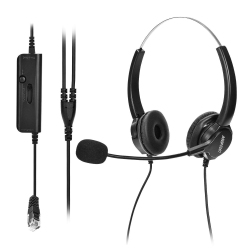 b71384b05da AGPtek Hands-free Noise Cancelling Corded Binaural Headset Headphone with  Mic Mircrophone for Call Center