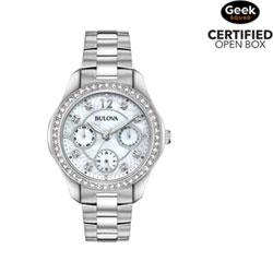 69a97389906 Bulova Multifunction 36mm Women s Dress Watch - Silver Mother of Pearl -  Open Box