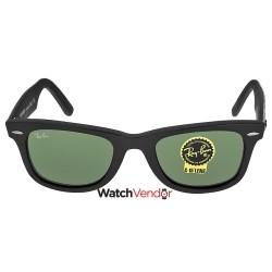 841fb41e52f Ray-Ban Original Wayfarer Black and Green Frames 50mm Sunglasses  RB2140-50-6065