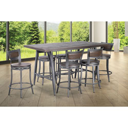df8a3bb115126 Franklin Modern 4-Seating Rectangular Casual Dining Table - Grey Wash