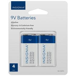 587827b7720 Insignia 9V Alkaline Batteries - 4 Pack