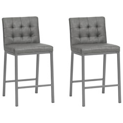 9a0e49d52ab Olin Contemporary Counter Height Bar Stool - Set of 2 - Slate Grey