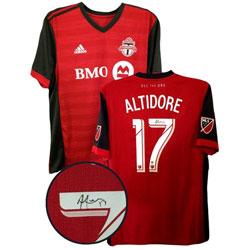 63a7363f910 Frameworth Toronto FC  Replica Jersey Signed By Jozy Altidore