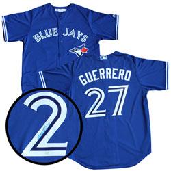 ba722365d Frameworth Toronto Blue Jays  Replica Jersey Signed By Vladimir Guerrero Jr