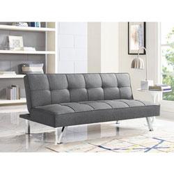 size 40 ddf65 dddd9 ViscoLogic Noble Split Back Convertible Futon Sofa Bed (Grey)