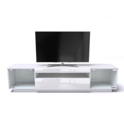 LOFT Media Storage Unit for TV/'s up to 75 inches 200cm Gloss White Samso TV Stand