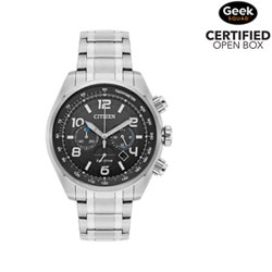 f887aa0f5b4 Citizen Sport Eco-Drive 45mm Men s Solar Powered Chronograph Casual Watch -  Silver Black