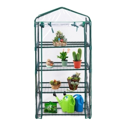 Portable Mini Walk In Outdoor 4 Shelves Warm House Greenhouse