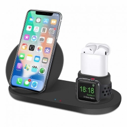 a935aa9716b Three in One Qi Wireless Fast Charging Stand for iPhone, Apple Watchand  Airpods support(