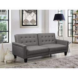 Oxford Transitional Fabric Sofa Bed - Light Grey