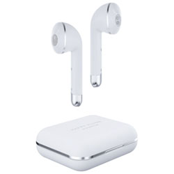 3a1be034132 Happy Plugs Air1 In-Ear Truly Wireless Headphones - White - Only at Best Buy
