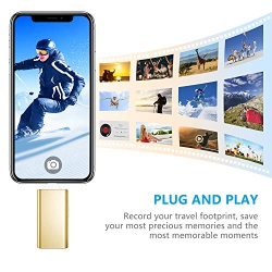 USB Flash Drive for iPhone Gold DULEES 64GB iPhone Photo Stick Lightning External Memory Storage for iPad iMac Android PC Backup Pictures Thumb Jump Drive