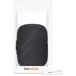 Protective Zippered Pouch Holder for Bike GPS Black kwmobile Case Compatible with Garmin Edge 530//830