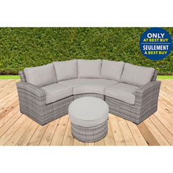 Elba Contemporary 4 Piece Patio Conversation Set   Cool Grey/Soft Grey    Only At Best Buy