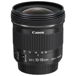 Objectif EF-S 10-18 mm f/4.5-5.6 IS STM de Canon (9519B002) - Noir