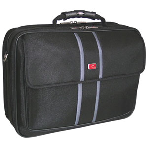"Mancini Biztech 17.3"" RFID-Protected Laptop Briefcase - Black"