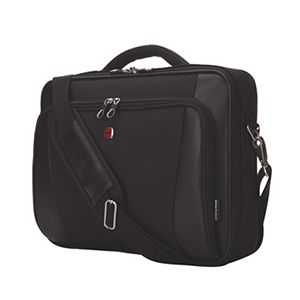 "SWISSGEAR 15.6"" Clamshell Laptop Messenger Bag - Black"