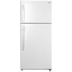"""Insignia 30"""" 18 Cu. Ft. Top Freezer Refrigerator with LED Lighting (NS-RTM18WH8Q) - White"""