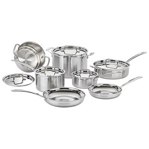Cuisinart 12-Piece Multiclad Pro Cookware Set - Stainless Steel