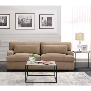 Rodeo Contemporary Polyester Sofa - Sand