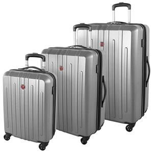 SWISSGEAR Blackcomb 3-Piece Hard Side Expandable Luggage Set - Silver