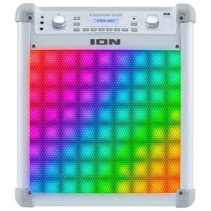 ION Karaoke Star Karaoke Machine with Lights (iPK2) - White