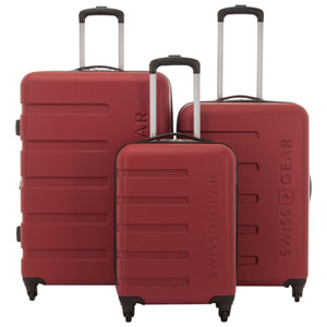 SWISSGEAR IL Madone 3-Piece Hard Side 4-Wheeled Expandable Luggage Set - Red