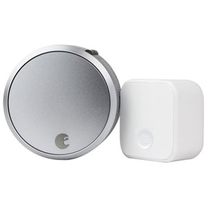 August Wi-Fi Smart Lock Pro + Connect - Silver