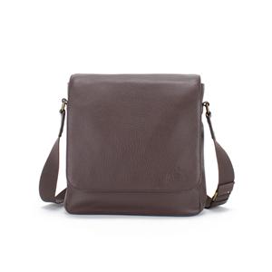Soprano Handbags Max Pebble Leather Flapover Shoulder Bag - Brown