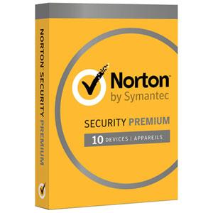 Norton Security Premium (PC/Mac) - 10 utilisateurs - 1 an - Anglais
